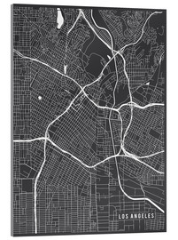 Acrylglasbild  Los Angeles USA Karte - Main Street Maps