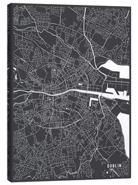 Leinwandbild  DUBLIN IRELAND MAP - Main Street Maps