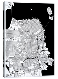 Leinwandbild  San Francisco USA Karte - Main Street Maps