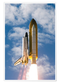 Poster  Space Shuttle Atlantis - Stocktrek Images