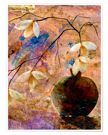 Poster Abstract vase with flowers