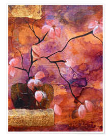 Premium-Poster Abstract vase with flowers