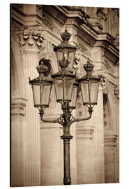 Alubild  Lamp posts and columns at the Louvre Palace, Louvre Museum, Paris, France. - age fotostock