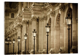 Acrylglasbild  Lamp posts and columns at Louvre - age fotostock