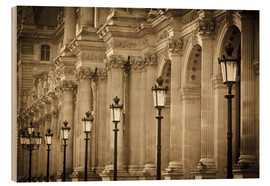 Holzbild  Lamp posts and columns at Louvre - age fotostock