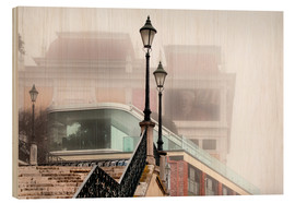 Holzbild  Nebel in Lissabon - VIEW Pictures