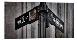 Acrylglasbild  NYC Wall Street And Broadway Sign-New York City´s Broadway Canyon of Heroes and Wall Street Sign. - age fotostock