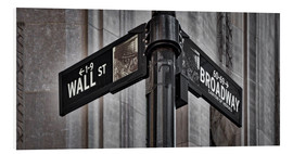 Hartschaumbild  NYC Wall Street And Broadway Sign-New York City´s Broadway Canyon of Heroes and Wall Street Sign. - age fotostock