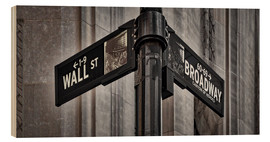 age fotostock - NYC Wall Street And Broadway Sign-New York City´s Broadway Canyon of Heroes and Wall Street Sign.