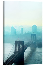 Leinwandbild  Brooklyn Bridge in turquoise - Johner