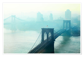 Premium-Poster Brooklyn Bridge im Morgengrauen