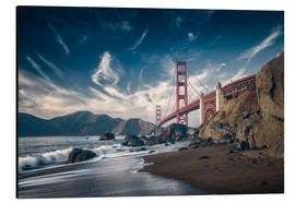 Alubild  Strand und Golden Gate Bridge - Westend61
