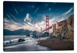 Leinwandbild  Strand und Golden Gate Bridge - Westend61