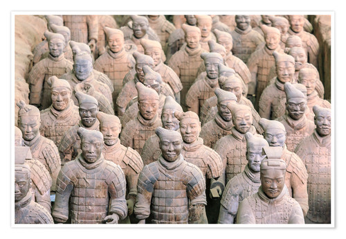 Póster Terra Cotta Army Museum, The Terracotta Army of Warriors & Horses is a collection of terracotta scul