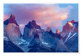 Premium-Poster Torres del Paine bei Sonnenaufgang