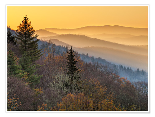 Premium-Poster Great Smoky Mountains Nationalpark