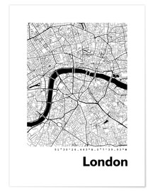Premium-Poster  Stadtplan von London - 44spaces