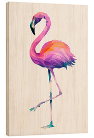 Holzbild  Flamingo 2 - Miss Coopers Lounge