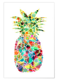 Premium-Poster  Ananas - Miss Coopers Lounge