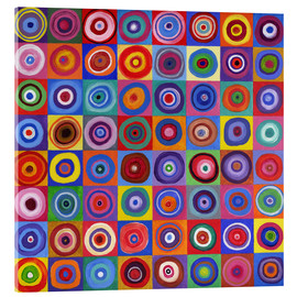Acrylglas  Square Circle 64 nach Kandinsky - David Newton