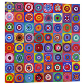 Hartschaumbild  Square Circle 64 nach Kandinsky - David Newton