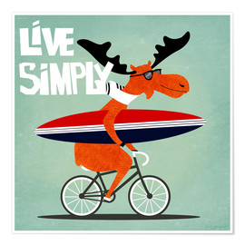 Premium-Poster  gaby jungkeit live simply - coico