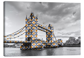 Leinwandbild  Tower Bridge Colour Pop