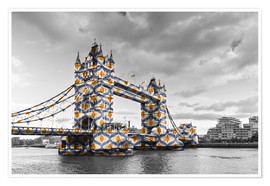 Premium-Poster Tower Bridge Colour Pop