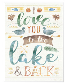Poster Lake Love II