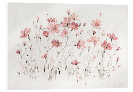 Acrylglasbild  Wildblumen in rosa - Lisa Audit