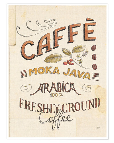 Premium-Poster Authentic Coffee VII