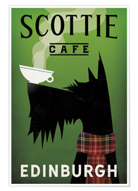Premium-Poster Scottie Cafe