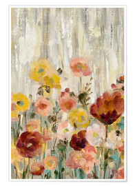 Premium-Poster Sprinkled Flowers II