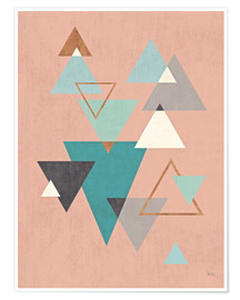 Premium-Poster Abstract Geo II Pink