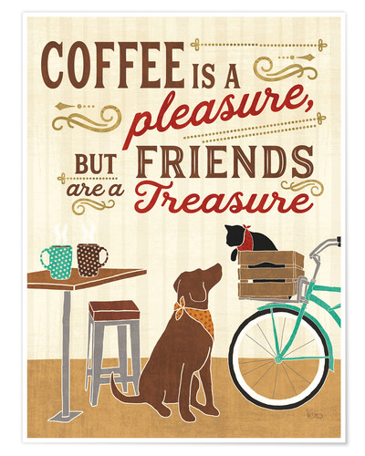 Premium-Poster Coffee and Friends II