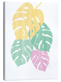 Leinwandbild  Monstera III Bright on White - Sarah Adams
