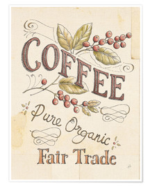 Premium-Poster Authentic Coffee VI
