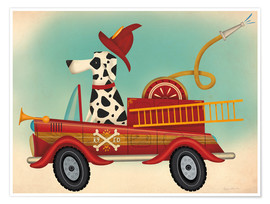 Premium-Poster K9 Fire Department