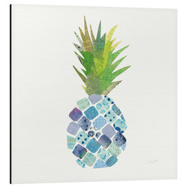Alubild  Tropische Ananas II - Courtney Prahl