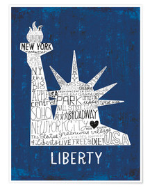 Premium-Poster  New York City II - Michael Mullan