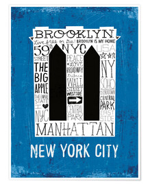 Premium-Poster  New York City V - Michael Mullan