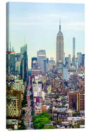 Leinwandbild  Das Empire State Building und die Manhattan-Skyline - Fraser Hall