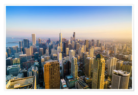 Premium-Poster  Skyline von Chicago, Illinois - Fraser Hall