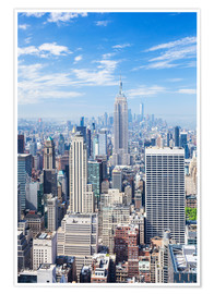 Premium-Poster  Manhattan Skyline in New York - Neale Clarke