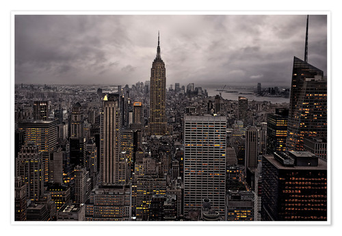 Premium-Poster New York City Skyline von oben