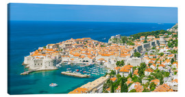 Leinwandbild  Old Port and Dubrovnik Old town - Neale Clarke