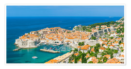 Premium-Poster Old Port and Dubrovnik Old town