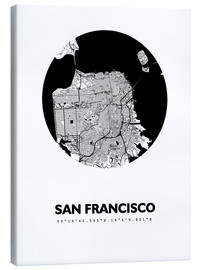 Leinwandbild  Stadtplan von San Francisco - 44spaces