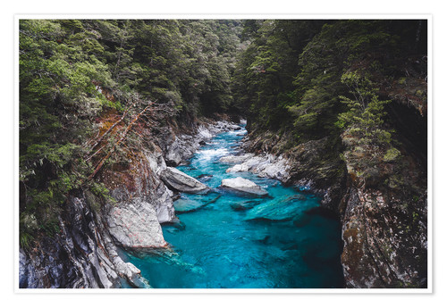 Premium-Poster Blaue Pools, Mount Aspiring National Park