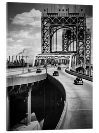 Acrylglasbild  Historisches New York - Triborough Bridge, Manhattan - Christian Müringer